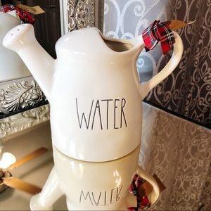 Rae Dunn WATER Ceramic Watering Can